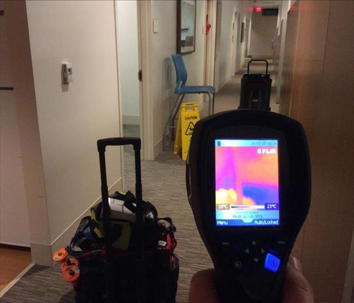 Thermal imaging device in a home.